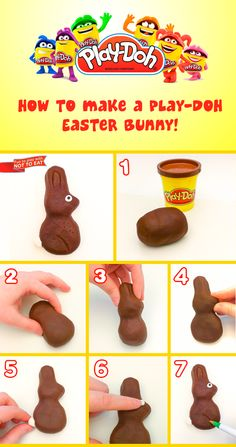 Happy Easter! #Art #DIY #Crafts #Toys #Kids #PlayDoh #Creativity #HowTo #Easter #Bunny