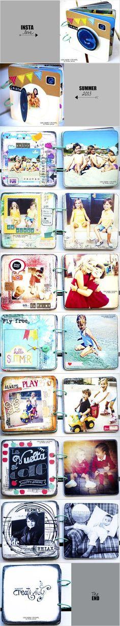 Ideia para fazer mini álbum de recordações de animais de estimação - Marie e Cacau
