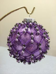 Beaded Ornament Cover- made Sept 2014