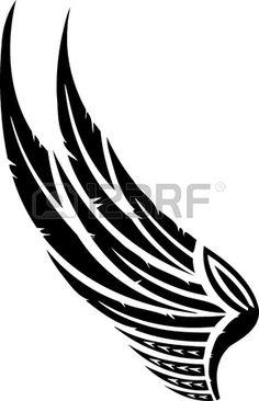 Illustration Wings.Vector est pr�te pour la d�coupe de vinyle. photo