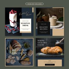 Food Graphic Design, Graphic Design Brochure, Design Food, Food Poster Design, Menu Design, Design Design, Design Package, Restaurant Poster, Magazin Design