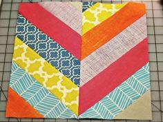Herringbone quilt block