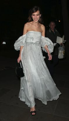 Alexa Chung Continues Her Winning Streak in This Loewe Dress