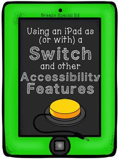 Attaching a switch device to the classroom iPad can be helpful for students with multiple disabilities. PRO: Makes the iPad assessable to all. CON: May only be compatible with certain apps. Speech Language Therapy, Speech And Language, Speech Therapy, Speech Pathology, Occupational Therapy, Autism Classroom, Special Education Classroom, Classroom Ideas, Classroom Inspiration