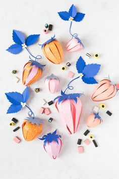 paper strawberry DIY