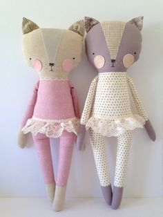 luckyjuju kitty girl cat lovie doll by luckyjuju on Etsy