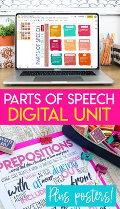 Engage middle and high school students in a relevant parts of speech unit as extra practice or a refresher, crash course. Ready for Google Drive and distance learning! #PartsofSpeech #MiddleSchoolELA #HighSchoolELA Grammar And Punctuation, Teaching Grammar, Grammar Lessons, Writing Lessons, English Language, Language Arts, Eight Parts Of Speech, Middle School Ela, High School English