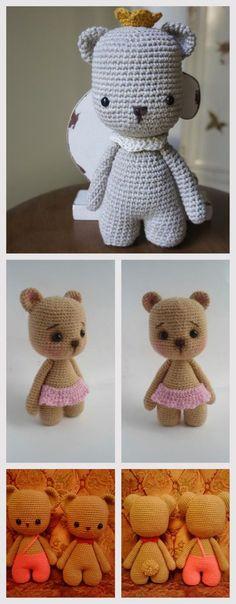 Little and Lovely Amigurumi Bear #amigurumi #amigurumipattern #crochettoy #knittingtoy #unicorn #stepbystep