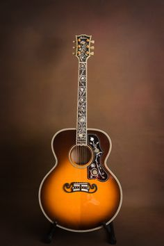 First Ever Gibson Master Museum J 200 SJ 200 Acoustic Guitar Custom Acoustic Guitars, Gibson Acoustic, Gibson Guitars, Guitar Art, Music Guitar, Cool Guitar, Pawn Stars, Guitar Photography, Les Paul Guitars