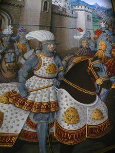 """france 1500 L'exposition exceptionnelle du Grand Palais. """"Lord of the bees"""". Enluminure (détail) de l'atelier de Jean Bourdichon pour le Voyage de Gênes de Jean Marot."""