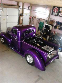 Purple Love, All Things Purple, Purple Rain, Purple Stuff, New Trucks, Custom Trucks, Chevy Trucks, Custom Cars, Classic Trucks