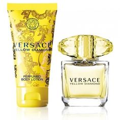 Versace Yellow Diamond Gift Set for Women. Buy now at whaqo.com #whaqo #versace #yellowdiamond #yellowdiamondgiftset #versaceyellowdiamondgiftset #giftset #versaceperfume #versacefragrance #perfumeaddict #designerperfume #perfumecollection #originalprices #luxuryperfume #bestperfumeever #discount #discountsale Versace Fragrance, Versace Perfume, Perfume Gift Sets, Gift Sets For Women, Perfume Collection, Body Lotion, Perfume Bottles, Cosmetics, Diamond