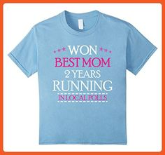 Kids Won Best Mom 2 Years Running in Local Polls Shirt for Moms 6 Baby Blue - Relatives and family shirts (*Partner-Link)