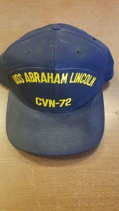 d94ec7e7 USS Abraham Lincoln CVN-72 Baseball Cap Hat Ship Navy #fashion #clothing  #shoes #accessories #mensaccessories #hats (ebay link)