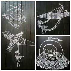 Black and white graffiti in Williamsburg, NYC