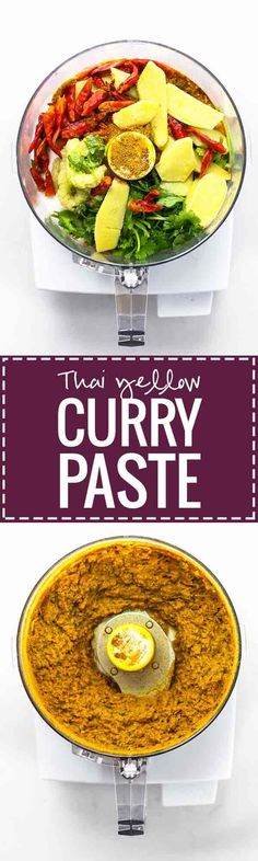 Easy Thai Yellow Curry Paste - made with ingredients that can be found at almost any grocery store! This easy recipe takes 45 minutes and gives you enough curry paste for 4+ batches of curry, and it freezes perfectly. Vegan!