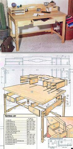 Santa Fe Style Desk Plans - Furniture Plans and Projects | WoodArchivist.com