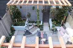 There are lots of pergola designs for you to choose from. First of all you have to decide where you are going to have your pergola and how much shade you want. Diy Pergola, Building A Pergola, Pergola Curtains, Outdoor Pergola, Garden Structures, Outdoor Structures, Garden Gazebo, Pergola Designs, Gardens