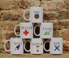 RPG Coffee Mug, Pathfinder Mug, Dungeons and Dragons Mug, Fantasy Mug, Geek Gift, DnD Present, Geek Mug, Gaming Mug, Geek Gamers Mug, Gift