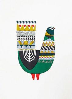 'Metsälintu' by Sanna Annukka. Illustration Noel, Illustrations, Madhubani Art, Scandinavian Folk Art, Indian Folk Art, Madhubani Painting, Indian Art Paintings, Bird Artwork, Tribal Art