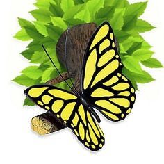 Yellow Butterfly 3D Deco Wall Mood Light