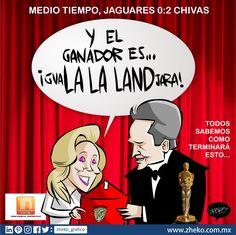 """#ElCartonDelDia para @FD1340AM  """"Y EL ÓSCAR ES PARA"""" @Chivas @Chiapas_FC #JaguaresVsChivas #Oscars #Chivas"""