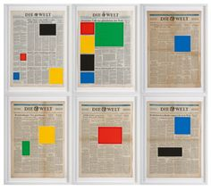 <p>Marine Hugonnier's newspaper color-blocking covers were another great discovery fromArt Basel.The French artist, who lives in London created most of her cutouts fromEllsworth Kelly's