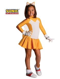 If you think of your daughter as your little sidekick, then this Girl's Tails the Fox Costume will be perfect for her.