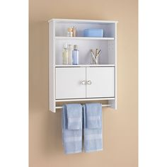 White Shaker 3 Shelf Corner Wall Unit