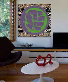Another great find on #zulily! Hulk Logo Gallery-Wrapped Canvas #zulilyfinds