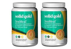 (2 Pack) Solid Gold Supplements Seameal Powder, 1 Pound each