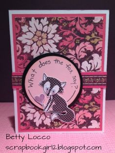 Card using CTMH Ivy Lane paper with the Wild About Love Stamp Set