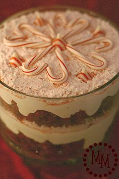 Candy cane trifle. Are you kidding me with this?