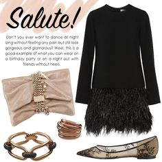 Salute!  fashion, style, inspiration, lbd, jimmy choo, flats, look, Looking Gorgeous, Lbd, Jimmy Choo, Night Out, Ideias Fashion, High Heels, Stylists, Glamour, Style Inspiration