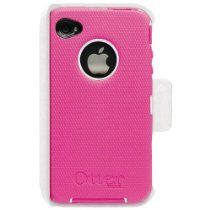 Universal iPhone 4/4S Defender Case [Pink/White]