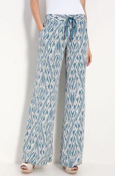 Joie Aryn Ikat Silk Wide Leg Pants