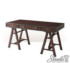 41194-THEODORE-ALEXANDER-7100-118-Mahogany-Campaign-Style-Writing-Desk-NEW