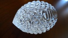 Crystal Football Paperweight Waterford by SucresDaintyDish on Etsy, $32.00