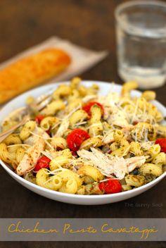 Chicken Pesto Cavatappi - looks as good as Noodles & Co.!