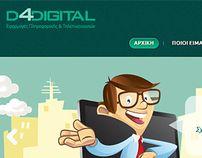 D4DIGITAL | Website Design - Character Illustration by Katerina OhMy, via Behance