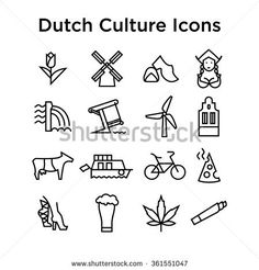 Sign in - Dutch Culture Icons, Culture Signs of Holland, Traditions of Netherlands, Dutch Life, National Obje - Mini Tattoos, New Tattoos, Small Tattoos, Tatoos, Dutch Tattoo, Create Your Own Canvas, Amsterdam Tattoo, Tulip Tattoo, Doodle Icon