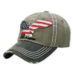 American Flag Eagle Olive GreenWashed Cotton Vintage Ball... https   www eb180e73cf89