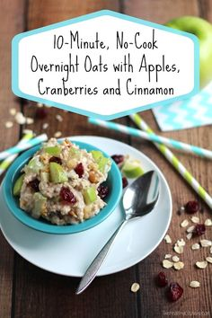 Loaded with whole-grain oats, protein, and fruit! This deliciously easy, hearty breakfast takes just 10 minutes to prep and is ready when you are!