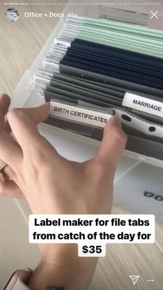 Family documents filing  File folders - Kmart  Container - officeworks Organisation Ideas, File Folders, Birth Certificate, Filing, Container, Day, House, Home, Lever Arch Files