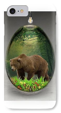 Bear Art IPhone 7 Case for Sale by Marvin Blaine.  Protect your iPhone 7 with an impact-resistant, slim-profile, hard-shell case.  The image is printed directly onto the case and wrapped around the edges for a beautiful presentation.  Simply snap the case onto your iPhone 7 for instant protection and direct access to all of the phone's features!