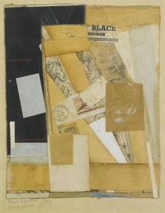 Kurt Schwitters (German, 1887-1948), Black Nburgh, 1947. Collage on paper laid down on the artist's mount.