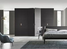 The Bangkok is a contemporary hinged wardrobe by Studio IQ. This wardrobe has a brown oak veneer and burnished finish and is ideal for any contemporary bedroom design. Furniture Showroom, Kids Furniture, Luxury Furniture, Furniture Design, Design Your Bedroom, Internal Doors, Contemporary Bedroom, Space Saving, New Homes