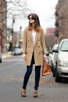 Winter Look Hermes Bag and All Saints Coat