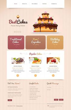 Moto CMS HTML #template // Regular price: $139 // Unique price: $8500 // #Food #Drink #MotoCMS #HTML #cakes #bakery #tablet #smartphone #responsive