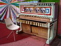 Piano at the Womb (photo by Mike Scanlon)